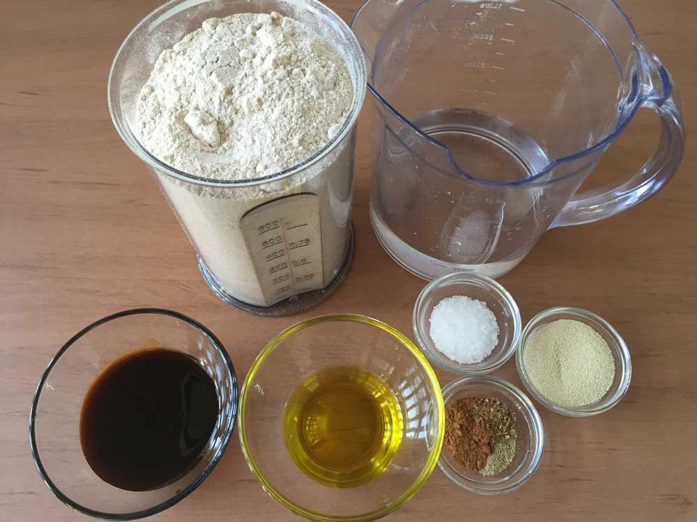 מצרכים ללחם כוסמין מלא עם תבלינים