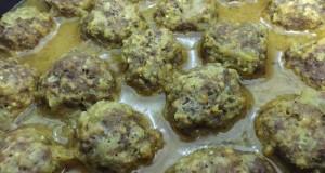 כדורי בשר בקר ברוטב צהוב