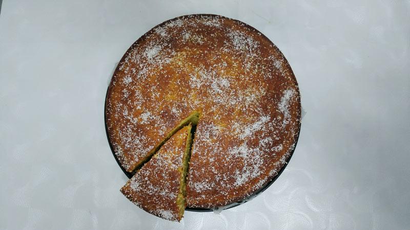 עוגת תפוזים וקוקוס הכי טעימה שתאכלו - מבט מלמעלה