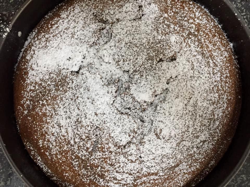 עוגת השיש לאחר היציאה מהתנור