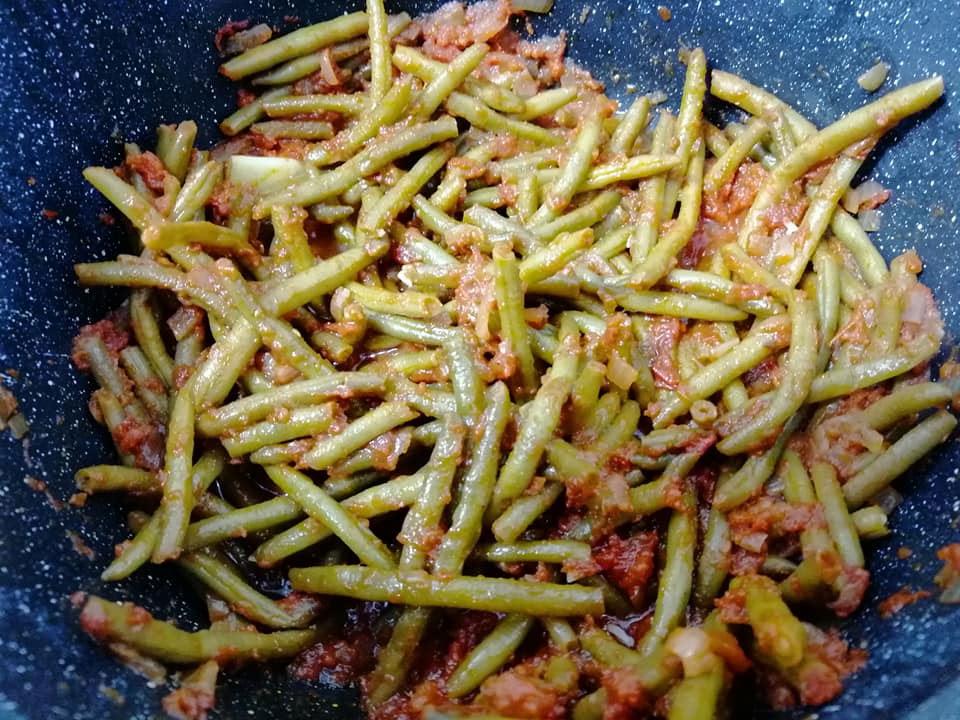 שעועית עדינה קפואה של סנפרוסט אחרי בישול